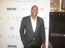 Actor Adewale Akinnuoye-Agbaje at Concussion red carpet film premiere